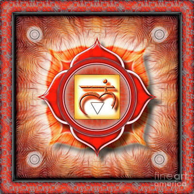 Root Chakra - Series 1 Art Print by Dirk Czarnota