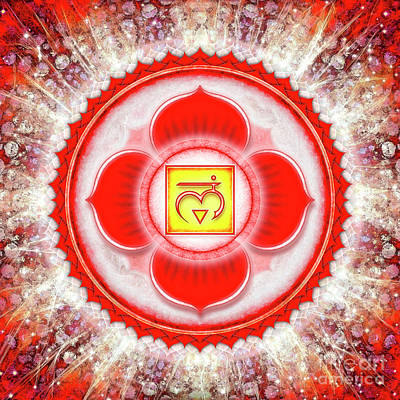 Root Chakra - Series 6 Art Print by Dirk Czarnota