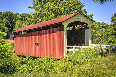 Music Royalty-Free and Rights-Managed Images - Root Covered Bridge  by Jack R Perry