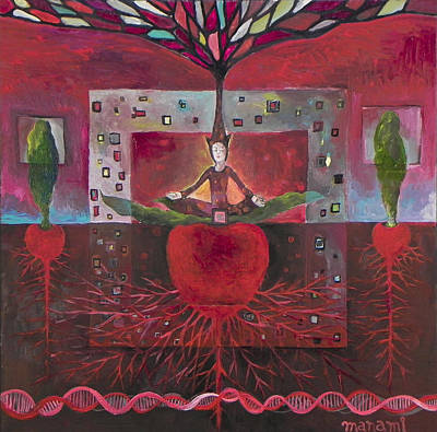 Chakra Painting - Root by Manami Lingerfelt