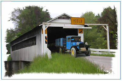 Photograph - Root Road Covered Bridge by Tom Griffithe