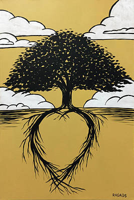 Tree Roots Art Painting - Rooted In Love by Nathan Rhoads