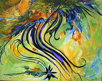 Intense Painting - Roots by Karen Gines