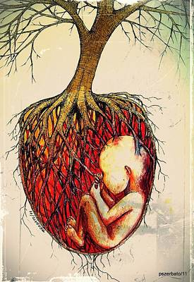 Body Language Digital Art - Roots Of Mother Nature by Paulo Zerbato