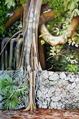 Tree Roots Painting - Roots by Terry Arroyo Mulrooney
