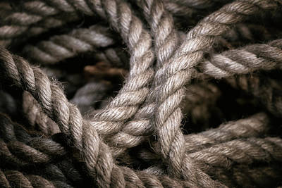 Cowboy Photograph - Rope Abstract by Tom Mc Nemar