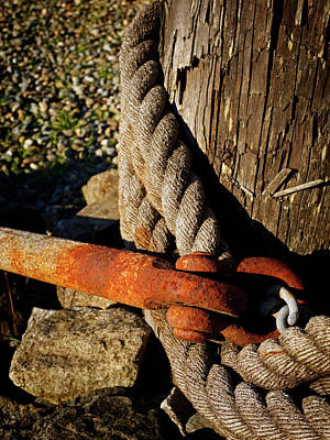 Photograph - Rope And Rust - 365-347 by Inge Riis McDonald