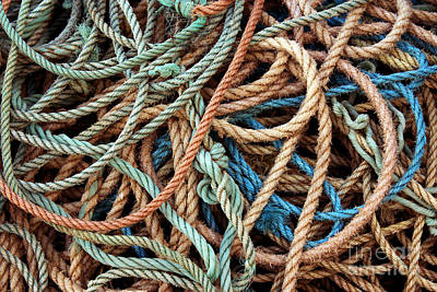Woven Photograph - Rope Background by Carlos Caetano