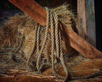 Photograph - Rope - Bale - Barn by Nikolyn McDonald