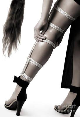 Woman Photograph - Rope Bondage by Oleksiy Maksymenko