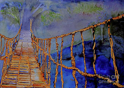 Painting - Rope Bridge by Sandy McIntire