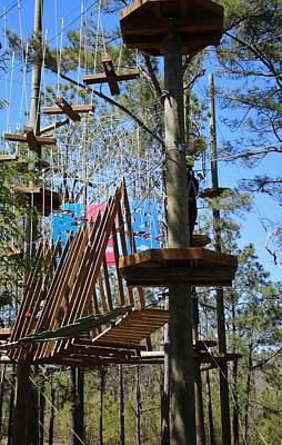 Photograph - Rope Course Challenge by Cynthia Guinn