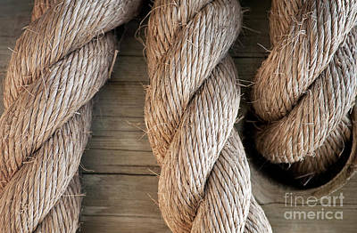 Nautical Photograph - Rope In A Hole by Dan Holm