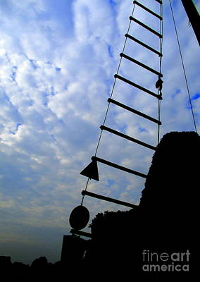 Photograph - Rope Ladder 1 by Randall Weidner
