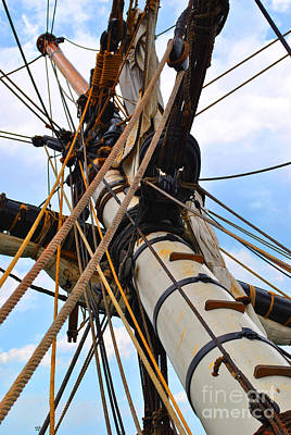 Moet Wall Art - Photograph - Rope Mast by Jost Houk
