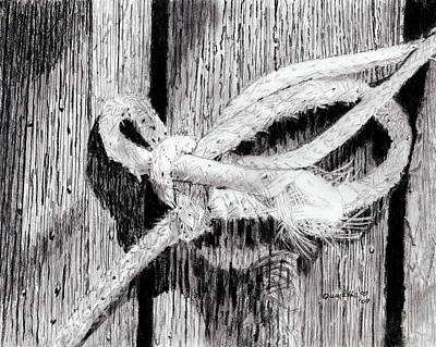 Painting - Rope On A Fence by Quwatha Valentine