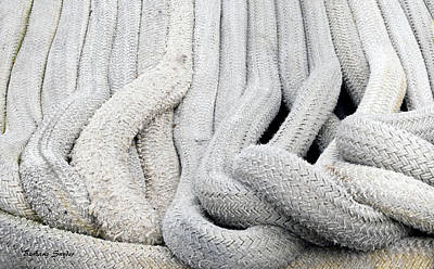 Photograph - Rope Really Big Boat Rope by Barbara Snyder