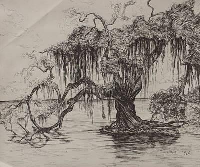Rope Swing Art Print by Sarah Lonthier
