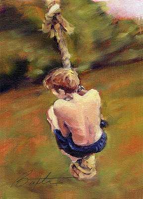 Swing Painting - Rope Swing by Todd Baxter