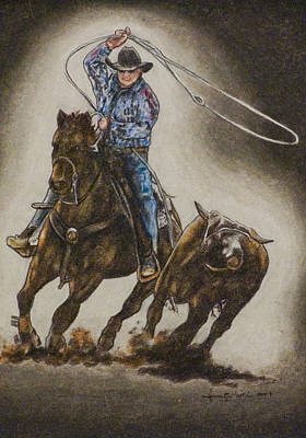 Drawing - Roper by Laurie Tietjen