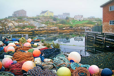 Photograph - Ropes And Floats In Peggys Cove by Carolyn Derstine