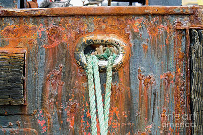Photograph - Ropes And Rust by David Arment