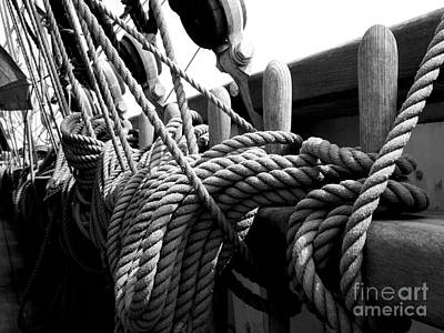 Ropes At The Ready Art Print by Lexa Harpell