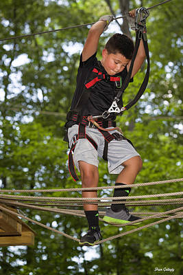 Photograph - Ropes Course Fun by Fran Gallogly