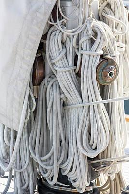 Ropes Of A Sailboat Art Print