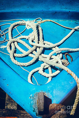 Photograph - Ropes On Boat by Silvia Ganora