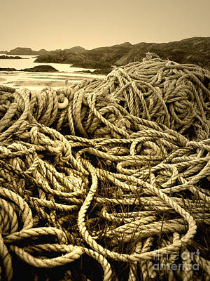 Ropes On Shore Art Print