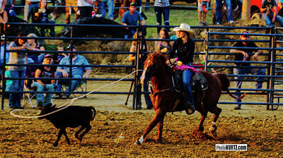 Photograph - Roping 101 by Jeff Kurtz