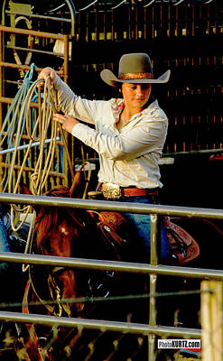 Photograph - Roping Prep by Jeff Kurtz