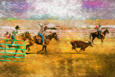 Photograph - Roping Rodeo by Carlos Diaz