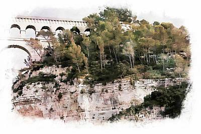 Roquefavour Aqueduct Art Print by Hugh Smith