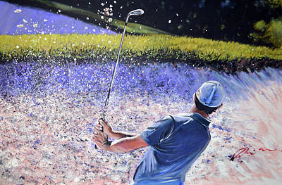 Golf Art Painting - Rors Bunker by Mark Robinson