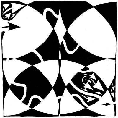 Rorschach Maze Art Print by Yonatan Frimer Maze Artist