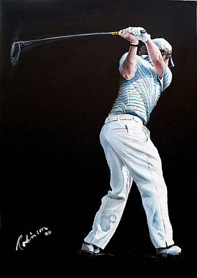 Painting - Rory McIlroy 2009 DWTC by Mark Robinson
