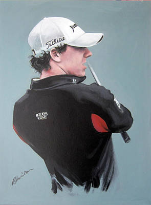 Golfer Painting - Rory Mcilroy 2012 by Mark Robinson