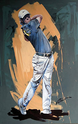 Painting - Rory Mcilroy 2015 by Mark Robinson