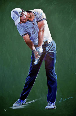 Painting - Rory Mcilroy Swing by Mark Robinson
