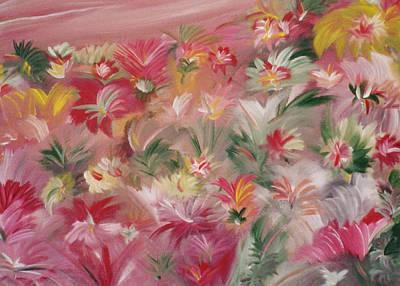 Rosa Bluetenmeer Art Print by Michael Puya