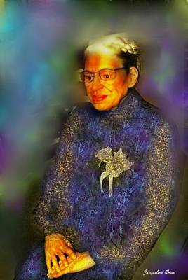 World Wide Web Painting - Rosa Park by Jacqueline Amos