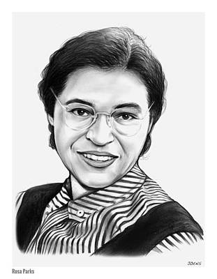Drawings Royalty Free Images - Rosa Parks Royalty-Free Image by Greg Joens