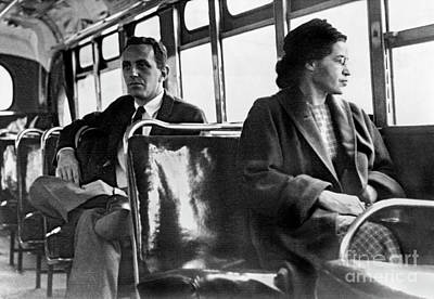 Racism Photograph - Rosa Parks On The Bus by American School