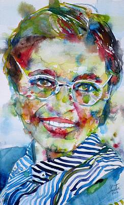 Painting - Rosa Parks - Watercolor.2 by Fabrizio Cassetta