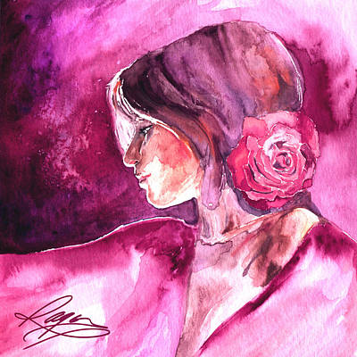 Art Print featuring the painting Rosa by Ragen Mendenhall