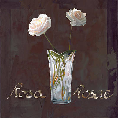 Vase Painting - Rosa Rosae by Guido Borelli
