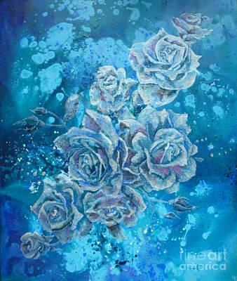 Mixed Media - Rosa Stellarum by Julia Underwood