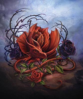 Dragon Mixed Media - Rosa Vitrolius by Alchemy
